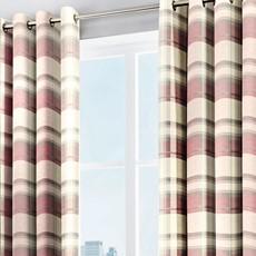 Balmoral Check Curtains - Blush