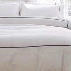 Bianca Pom Pom Duvet Set - White Grey