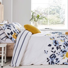 Joules Galley Grade Floral Duvet Cover - Blue & Gold