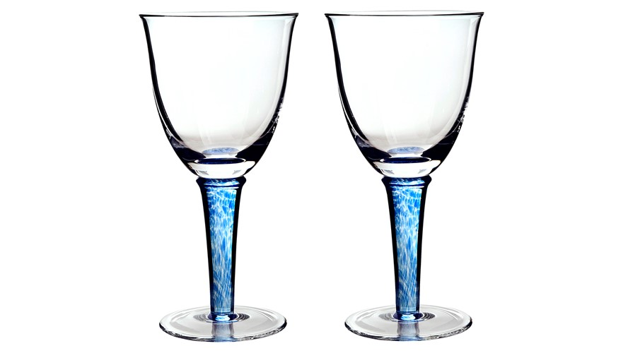 Denby Imperial Blue White Wine Glass - Set of 2