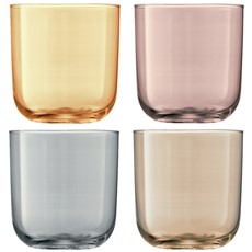 LSA Polka Tumblers (Set of 4) - Metallic