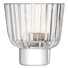 LSA Pleat Tea Light Holder - Clear