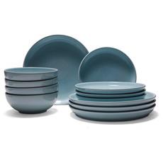 Denby Intro Stone 12 Piece Dinner Set - Pale Blue