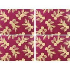 Sara Miller Etch Leaves Placemats Pink