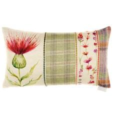 Voyage Cardus Thistle Rectangular Cushion - Patchwork