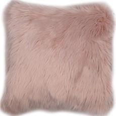 Snug Faux Fur Cushion - Pink