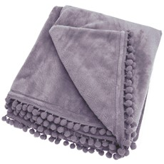Cashmere Touch Throw - Lavender