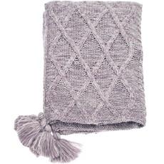 Patchwork Knit Throw - Lavender