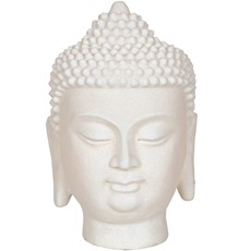 Buddha Head Table Lamp - Cream