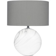 Ceramic Marble Effect Table Lamp