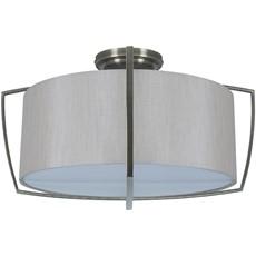 Flush Pendant Light Shade - Silver & Grey