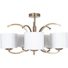 5 Arm Semi Flush Brass Pendant Light Shade