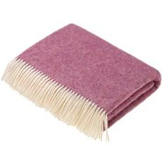 Shetland Throw - Herringbone Pink