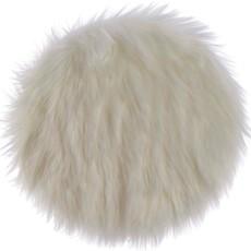 Round Faux Fur Lamb Rug