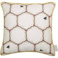 Chateau Honeycomb Cushion - White