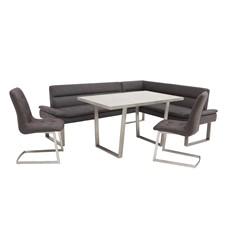Arturo Table, Left Corner Bench & 2 Chair Set