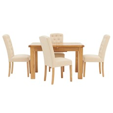Ashbourne 125cm Extending Table & 4 Cranbrook Dining Chairs