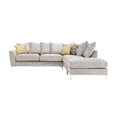 Contempo Chaise Right Corner Sofa with Stool