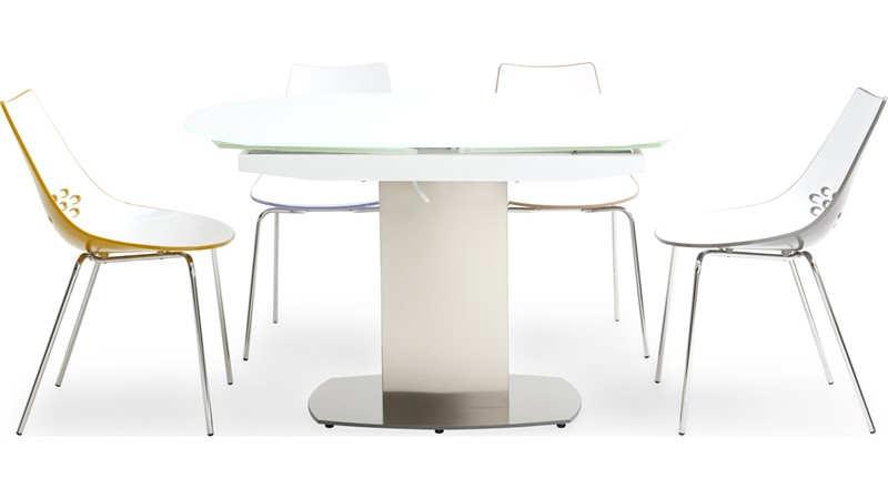 Jamila Extending Dining Table & 4 Calligaris Jam Chairs