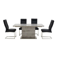 Miguel Extending Dining Table & 4 Chairs