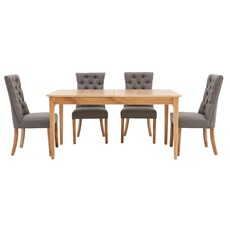Newbury 160cm Extending Table & 4 Cranbrook Curved Dining Chairs