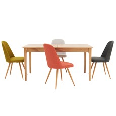 Newbury 160cm Table & 4 Karl Chairs