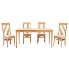 Newbury 160cm Table & 4 Slat Back Chairs