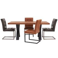 Raindale Raindale Cross Leg Table & 4 Carnegie Chairs