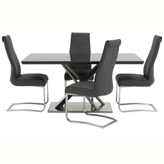 Rosa Dining Table & 4 Chairs