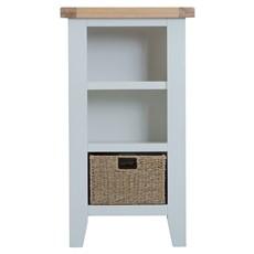 St Ives Small Narrow Bookcase - Grey