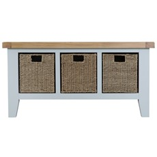 St Ives Large Hall Bench - Grey