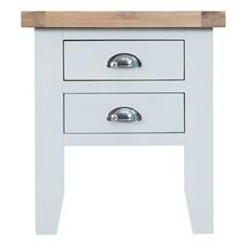 St Ives Lamp Table - White