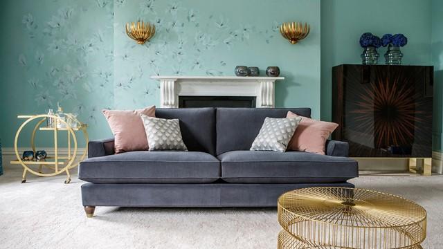 Hoxton Grand Sofa In Bracklyn Charcoal