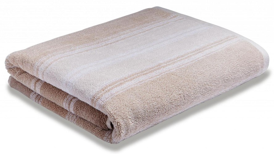 Bianca Cotton Soft Ombre Stripe Hand Towel - Natural