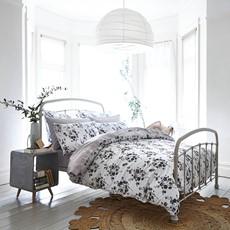 Bianca Cotton Sprig Print Duvet Set - Grey