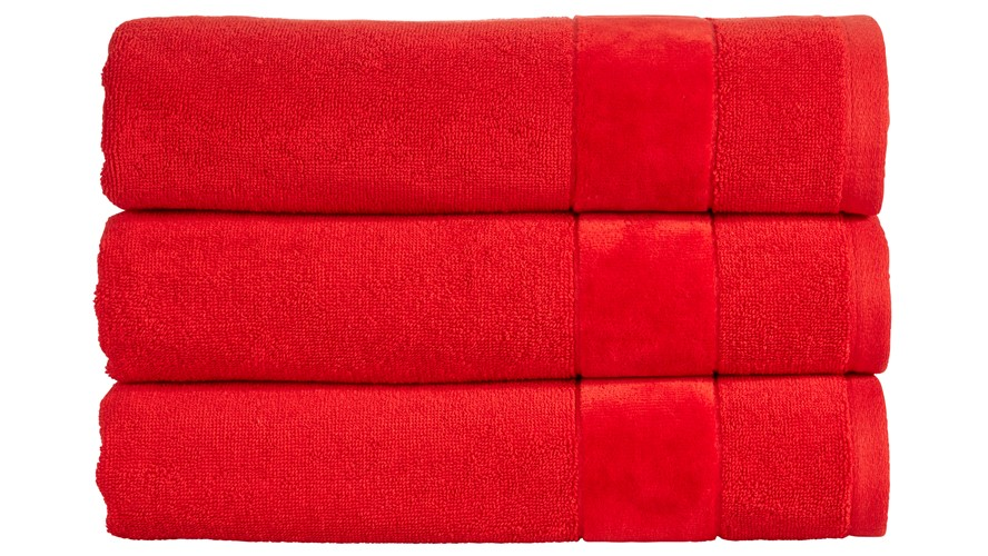 Christy Prism Towel - Fire Engine Red