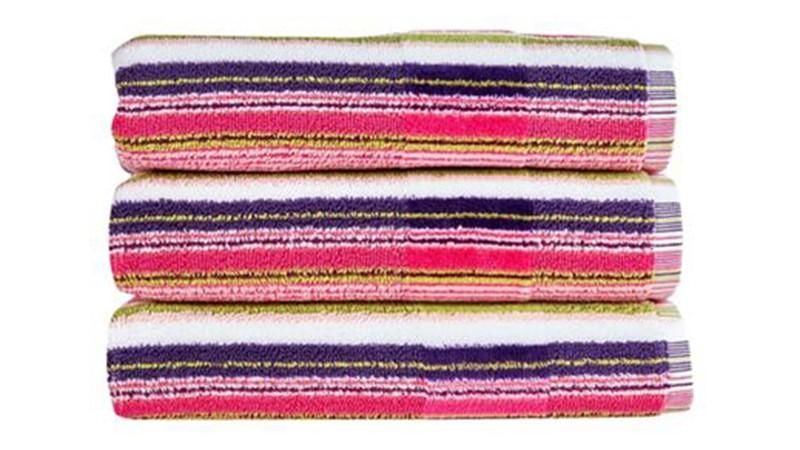 Christy Prism Stripe Towel - Eton Mess