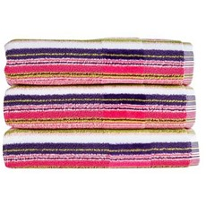 Christy Prism Stripe Towel - Eton Mess