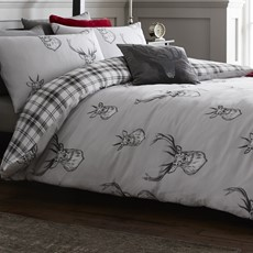 Catherine Lansfield Stag Duvet Set - Grey