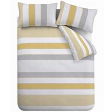 Catherine Lansfield Newquay Stripe Duvet Set - Ochre