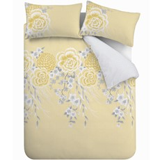 Catherine Lansfield Oriental Blossom Duvet Set - Yellow
