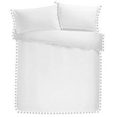 Signature Pearl Duvet Set - White