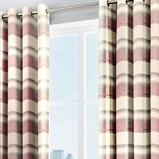 Balmoral Check Curtains - Blush