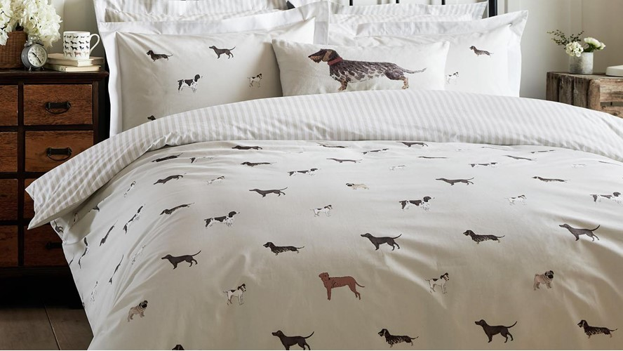 Sophie Allport Dogs Duvet Set - Natural