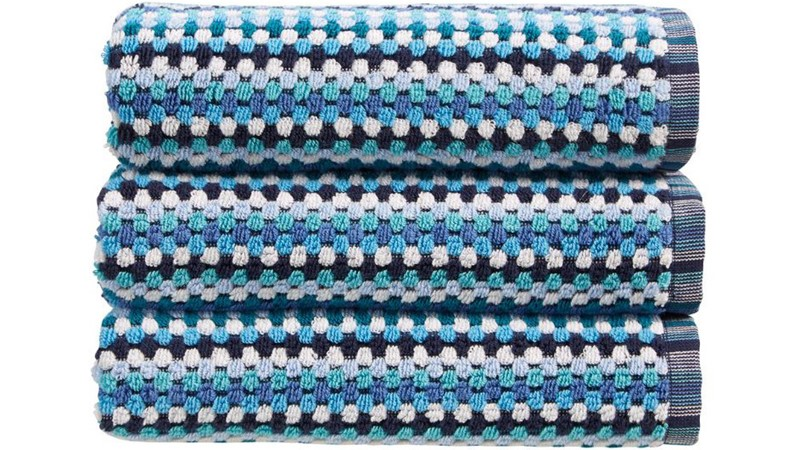 Carnaby Stripe Towel - Blue