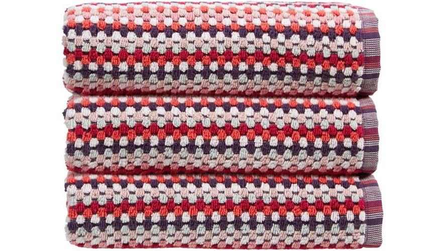 Carnaby Stripe Towel Berry