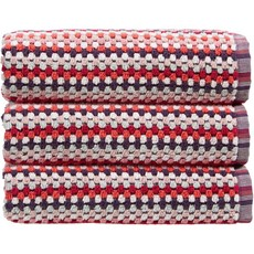 Carnaby Stripe Towel Berry