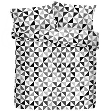 Fusion Geo Duvet Set - Black & White