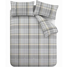 Bianca Campbell Check Duvet Set - Grey