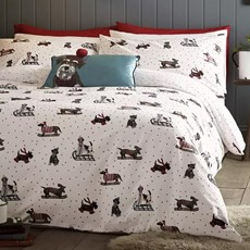 Fat Face Sledging Dogs Duvet Set